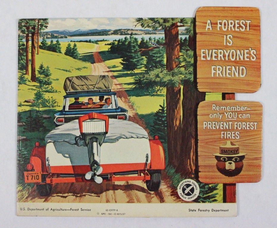 Vintage Smokey the Bear Poster